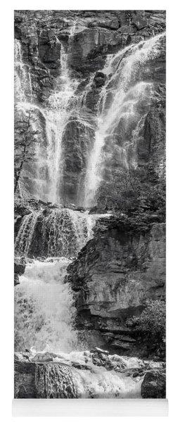 Icefields Waterfall Yoga Mat