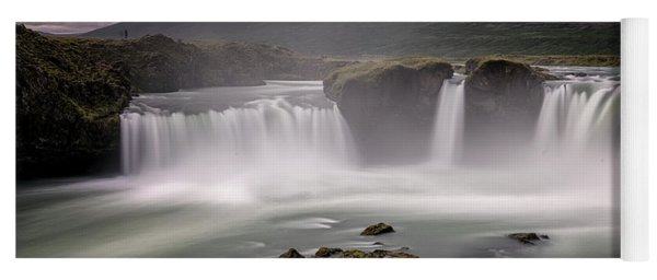 Iceland Waterfall Yoga Mat