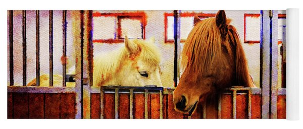 Icelandic Horses Of Hester-stables 3 Yoga Mat