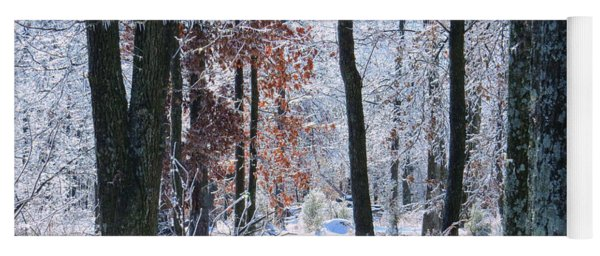 Icey Forest 1 Yoga Mat