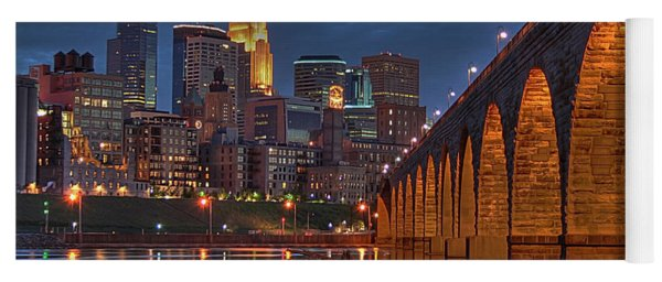 Iconic Minneapolis Stone Arch Bridge Yoga Mat