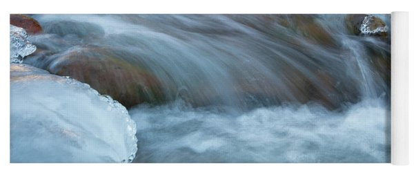 Icy Big Thompson River Yoga Mat