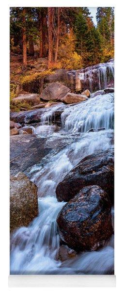 Icy Cascade Waterfalls Yoga Mat