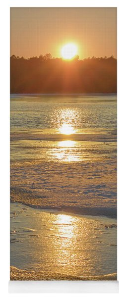 Yoga Mat featuring the photograph Icy Sunset by Beth Sawickie