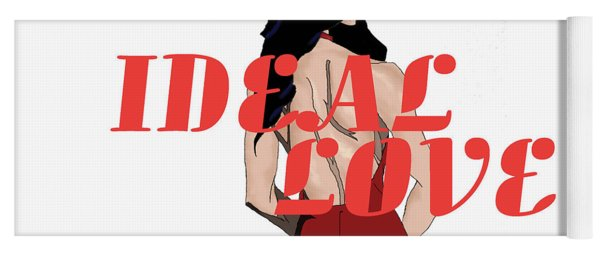 Yoga Mat featuring the digital art Ideal Love Cover by Jayvon Thomas