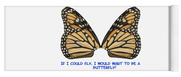 If I Could Fly Yoga Mat