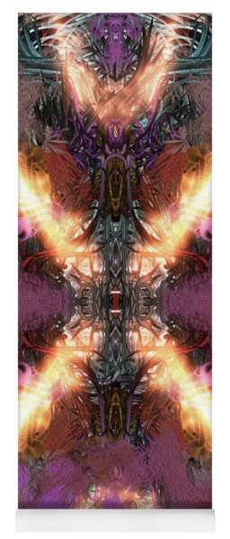 Yoga Mat featuring the digital art Ignition by Reed Novotny