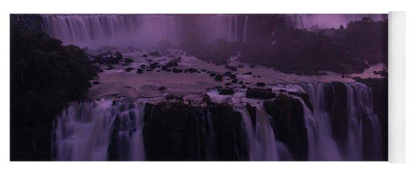 Iguazu Sunset In Violet Yoga Mat