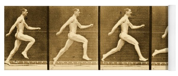 Image Sequence From Animal Locomotion Series Yoga Mat