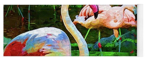 Impasto Flamingo Yoga Mat