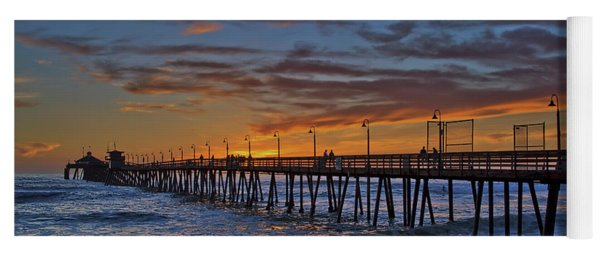 Imperial Beach Pier Under A Spectacular Sunset Yoga Mat