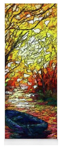 Impression Sunset Print From Olena Art Original Oil Painting #pixels   Yoga Mat