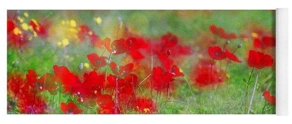 Impressionistic Blossom Near Shderot Yoga Mat