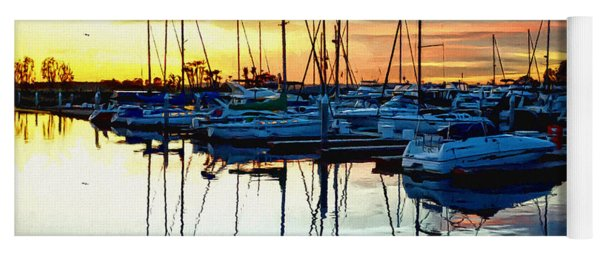 Impressions Of A San Diego Marina Yoga Mat