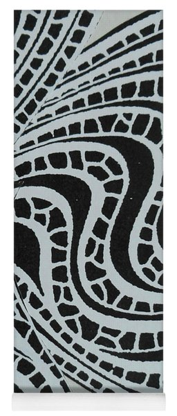In Black And White Yoga Mat