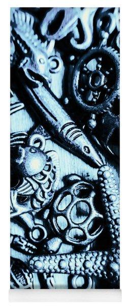 In Blue Nautilus  Yoga Mat