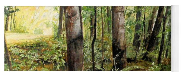 In The Shaded Forest  Yoga Mat