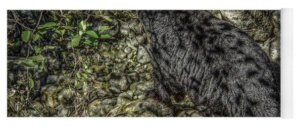 In The Shadows Black Bear Yoga Mat