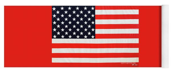 Pooling Independence Day Large Scale Oil On Canvas Original United States Flag Yoga Mat