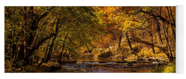 Indian Creek In Fall Color Yoga Mat