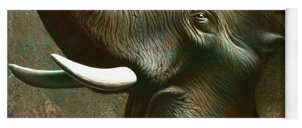 Indian Elephant 2 Yoga Mat