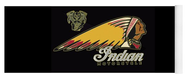 Indian Motorcycle Logo Series 2 Yoga Mat