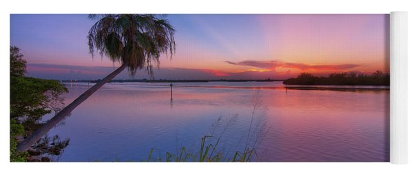 Indian River State Park Bursting Sunset Yoga Mat