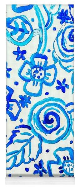 Indigo Blooms Yoga Mat