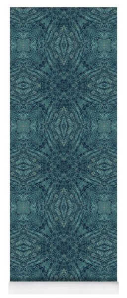 Indigo Diamond Cross Pattern 24in Yoga Mat