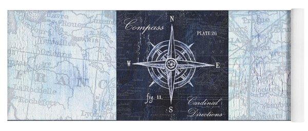 Indigo Nautical Collage Yoga Mat