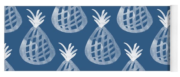 Indigo Pineapple Party Yoga Mat