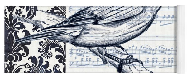 Indigo Vintage Songbird 1 Yoga Mat