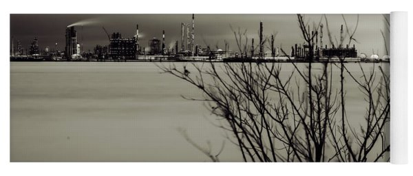 Industry On The Mississippi River, In Monochrome Yoga Mat