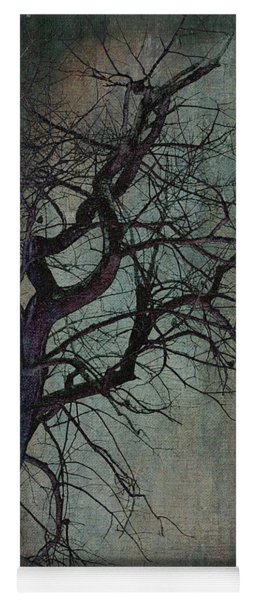 Infared Tree Art Twisted Branches Yoga Mat