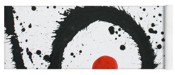 Ink On Paper En Triomphe #2 Vertical Ink Landscape Original Fine Art Ink On Paper Yoga Mat