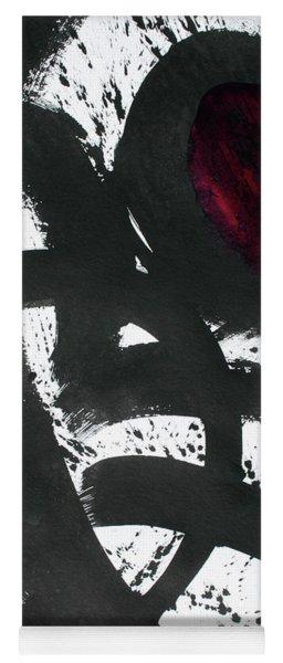 Ink On Paper Rose #2 Vertical Ink Landscape Original Fine Art Ink On Paper Yoga Mat