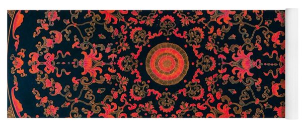 Inlaid Qing Dynasty Chinese Mandala 18th Century Yoga Mat