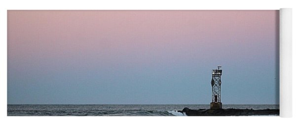 Yoga Mat featuring the photograph Inlet Jetty At Dawn by Robert Banach