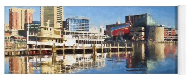 Inner Harbor Reflections  Yoga Mat