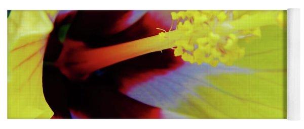 Inside A Yellow Beauty Yoga Mat