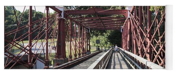 Inside The Bollman Truss Bridge At Savage Maryland Yoga Mat