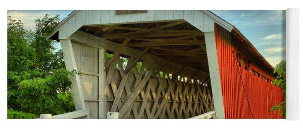 Inside The Imes Covered Bridge Yoga Mat