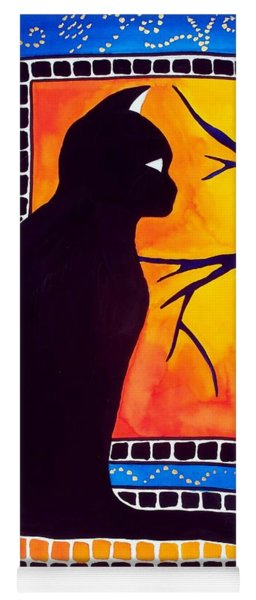 Insomnia - Cat And Owl Art By Dora Hathazi Mendes Yoga Mat
