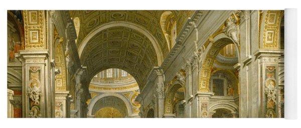 Interior Of St. Peter's - Rome Yoga Mat
