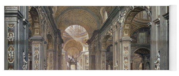 Interior Of St Peter's, Rome, 1867 Yoga Mat