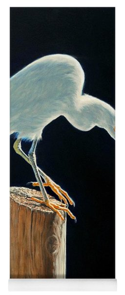Interlude - Snowy Egret Yoga Mat