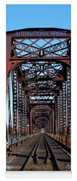International Bridge - Railway Bridge To United States Yoga Mat