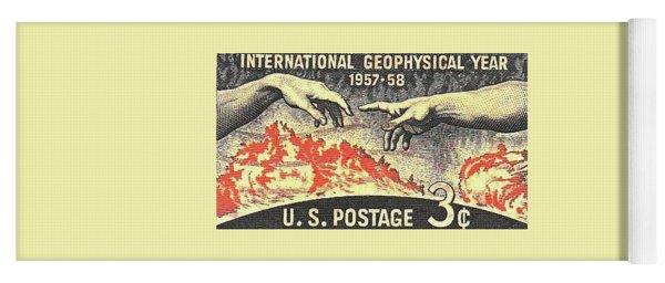International Geophysical Year Stamp Yoga Mat