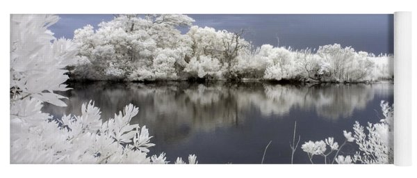 Intimate Lake In Infrared Yoga Mat