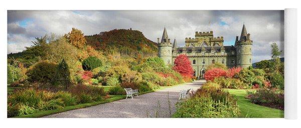 Inveraray Castle Garden In Autumn Yoga Mat